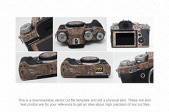 Fujifilm X-T3 Mirrorless Digital Camera 2018 Skin Vector Template
