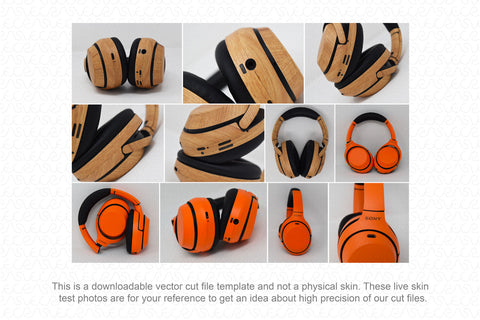 Sony WH-1000XM3 Wireless Headset 2019 Skin Cutting Template