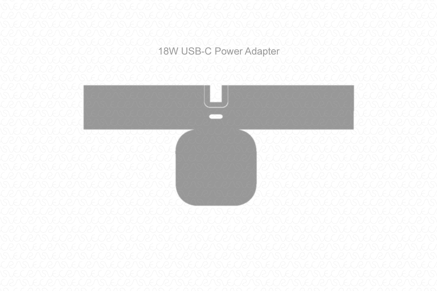 Apple 18W USB C Power Adapter 2019 Wrap Template Cut File