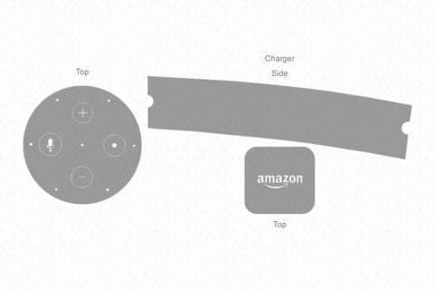 Amazon Echo 2 (2017) & Power Adaptor Skin Vector Template