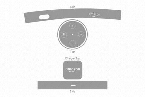 Amazon Echo Dot 2 (2016) & Power Adaptor Skin Vector Template