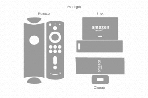 Amazon Fire TV Stick 4K (2019) with Voice Remote & Power Adaptor Wrap Template Cut File