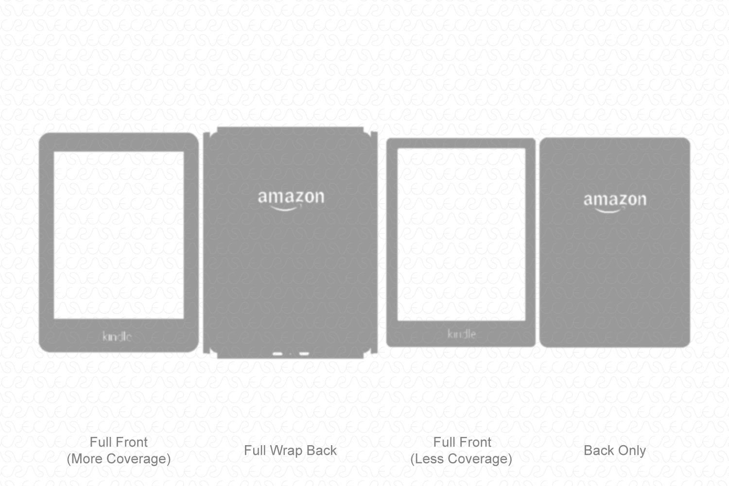 Kindle 8th Gen. (2016) Vector Cutline Template