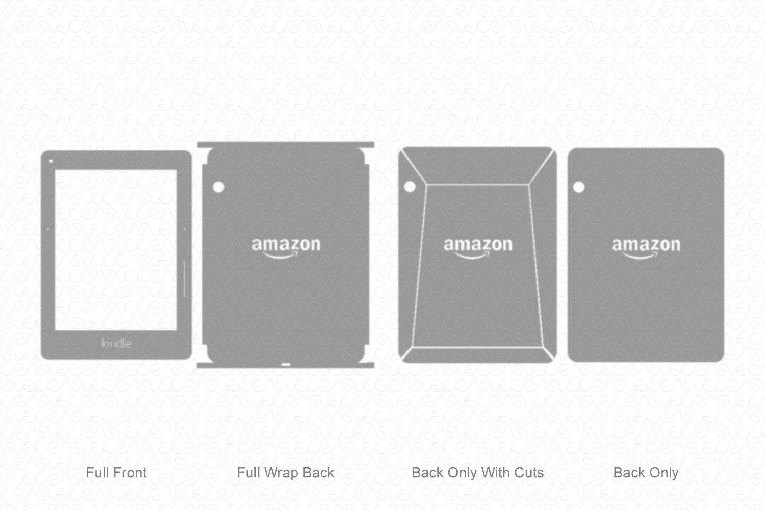 Kindle Voyage (2014) Vector Cutline Template
