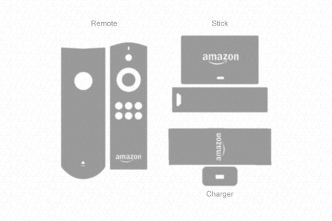 Amazon Fire TV Stick 2 (2016) with Voice Remote & Power Adaptor Wrap Template Cut File