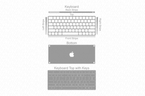 Apple Keyboard Vinyl Skin Vector Cut File Template
