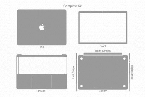 "MacBook Air 13"" Retina (2018) Skin Template Cut File"