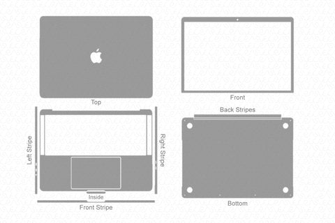 "MacBook Pro 13"" TouchBar (2018) Skin Template Cut File"