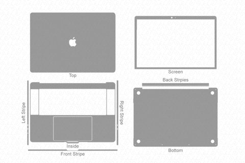 "MacBook Pro 15"" TouchBar (2018-19) Skin Template Cut File"