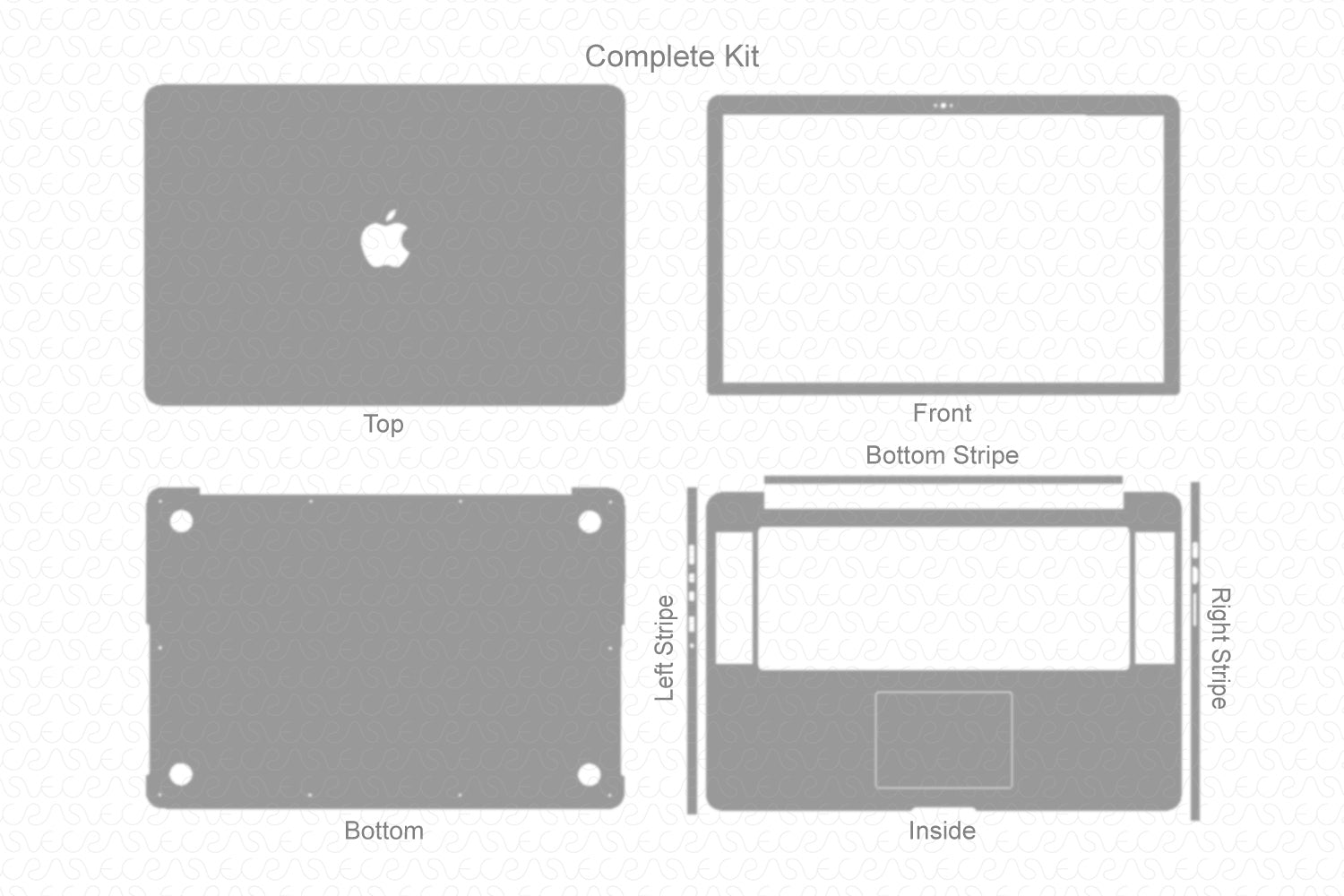 "MacBook Pro 15""- Retina (2012) Skin Template Cut File"