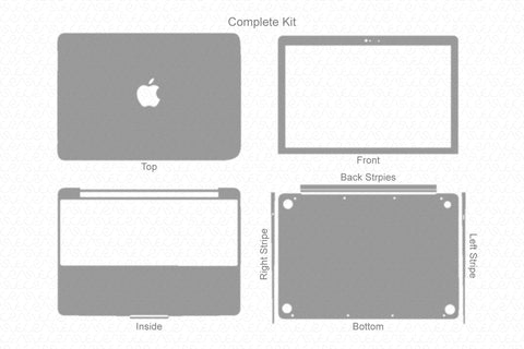 "MacBook 12"" (2015) Skin Template Cut File"