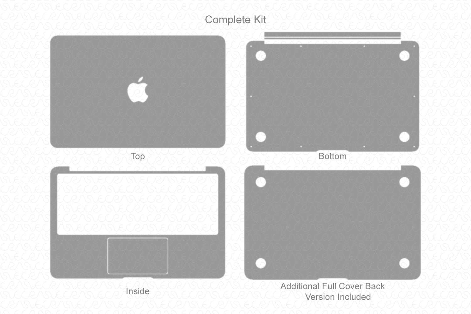 "MacBook Air 11"" (2011) Skin Template Cut File"