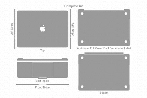 "MacBook Pro 13"" TouchBar (2016-17) Skin Template Cut File"