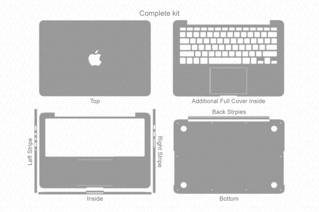 Macbook pro 13 retina skin template for cutting or machining | etsy.