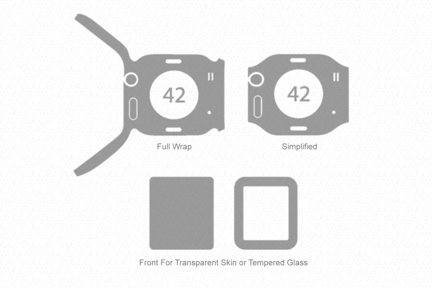 Apple Watch 42mm Series 1 (2015) Skin Cutting Template