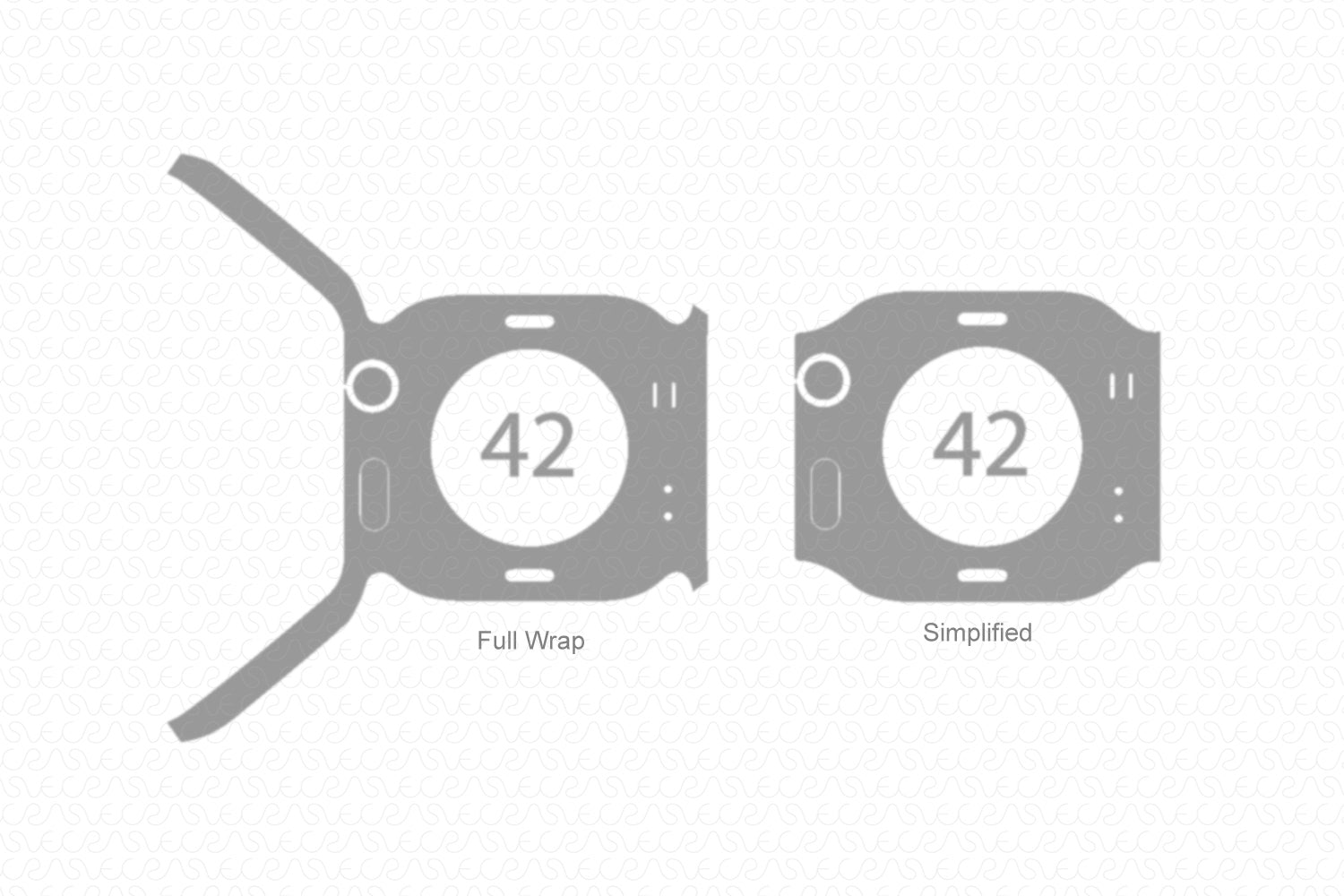 Apple Watch 42mm Series 2 (2015) Skin Cutting Template