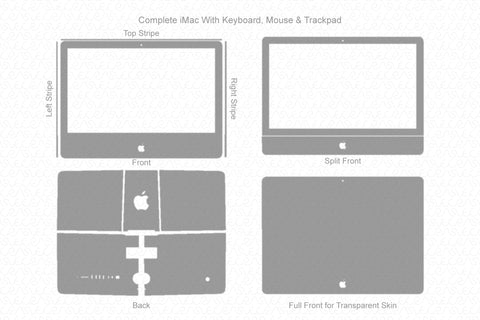 "Apple iMac 21.5"" 4K display 2015 Wrap Template Cut File"