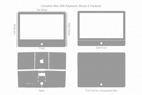 "Apple iMac 27"" Retina 5K display 2017 Wrap Template Cut File"