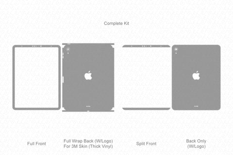 "iPad Pro 11"" (2018) Vector Cutline Template"