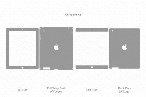 iPad 3rd Gen. (2012) Vector Cutline Template