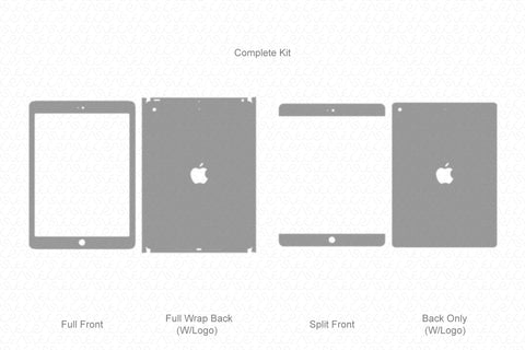 "iPad 9.7"" (2017 & 2018) Vector Cutline Template"