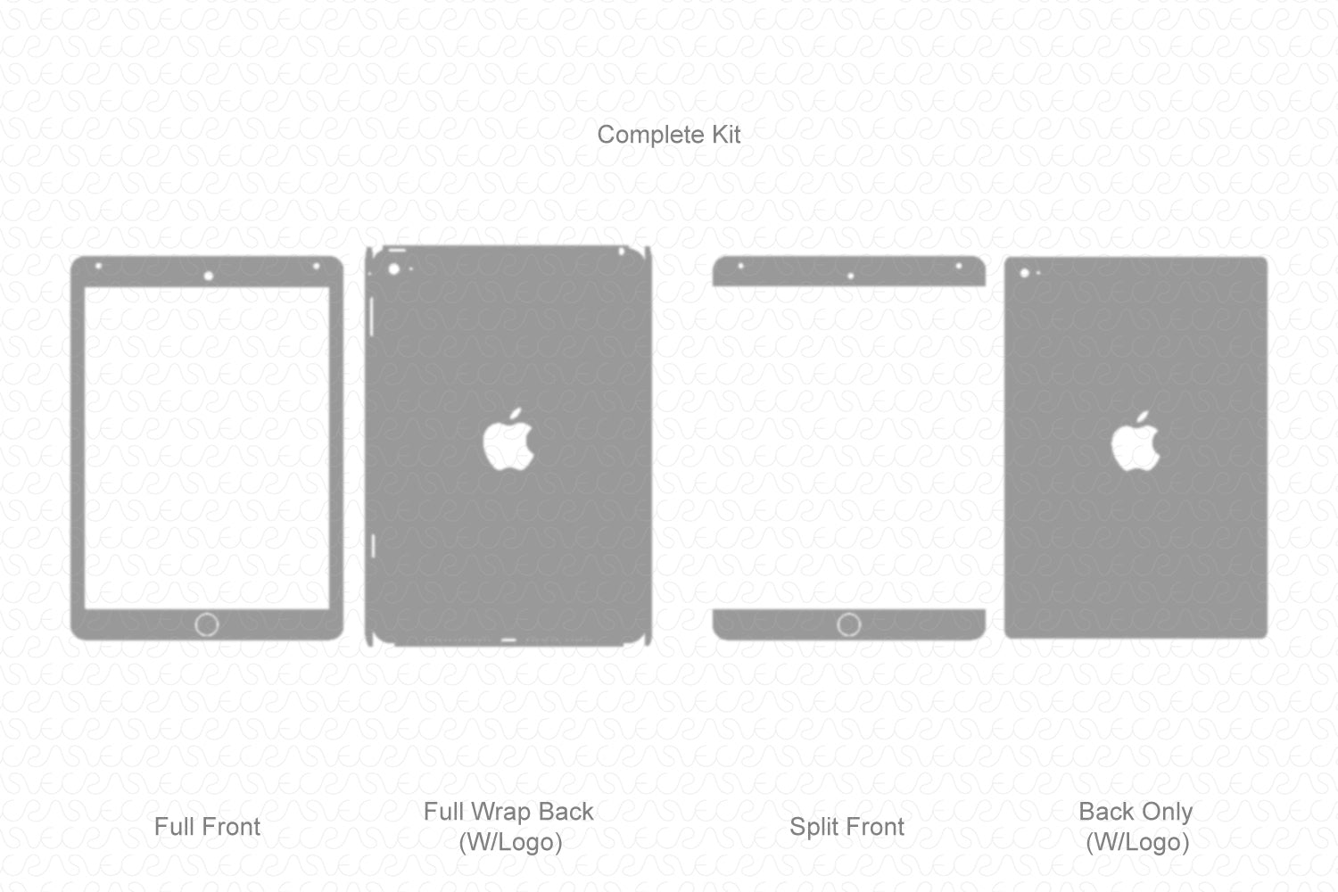 iPad Air 2 (2014) Vector Cutline Template