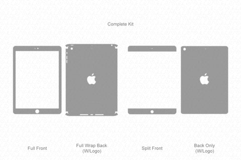 iPad Air Mid (2013) Vector Cutline Template