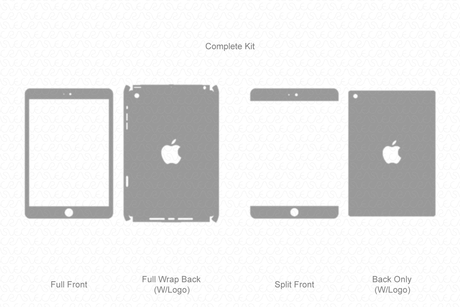 iPad Mini 1 (2012) Vector Cutline Template