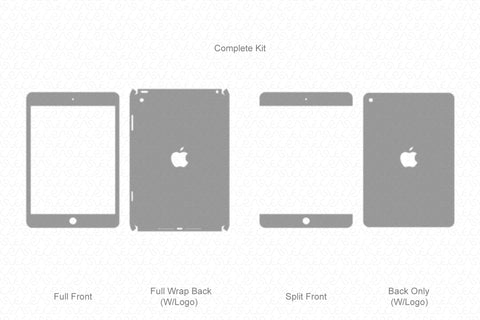iPad Mini 5 (2019) Vector Cutline Template