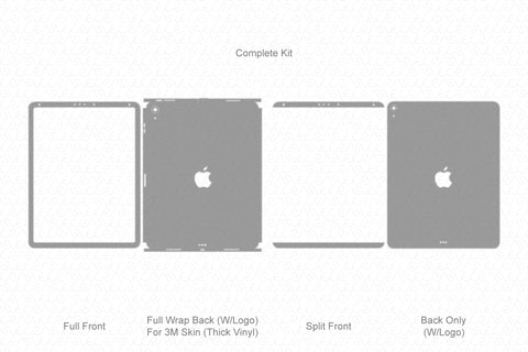 "iPad Pro 12.9"" (2018) Vector Cutline Template"