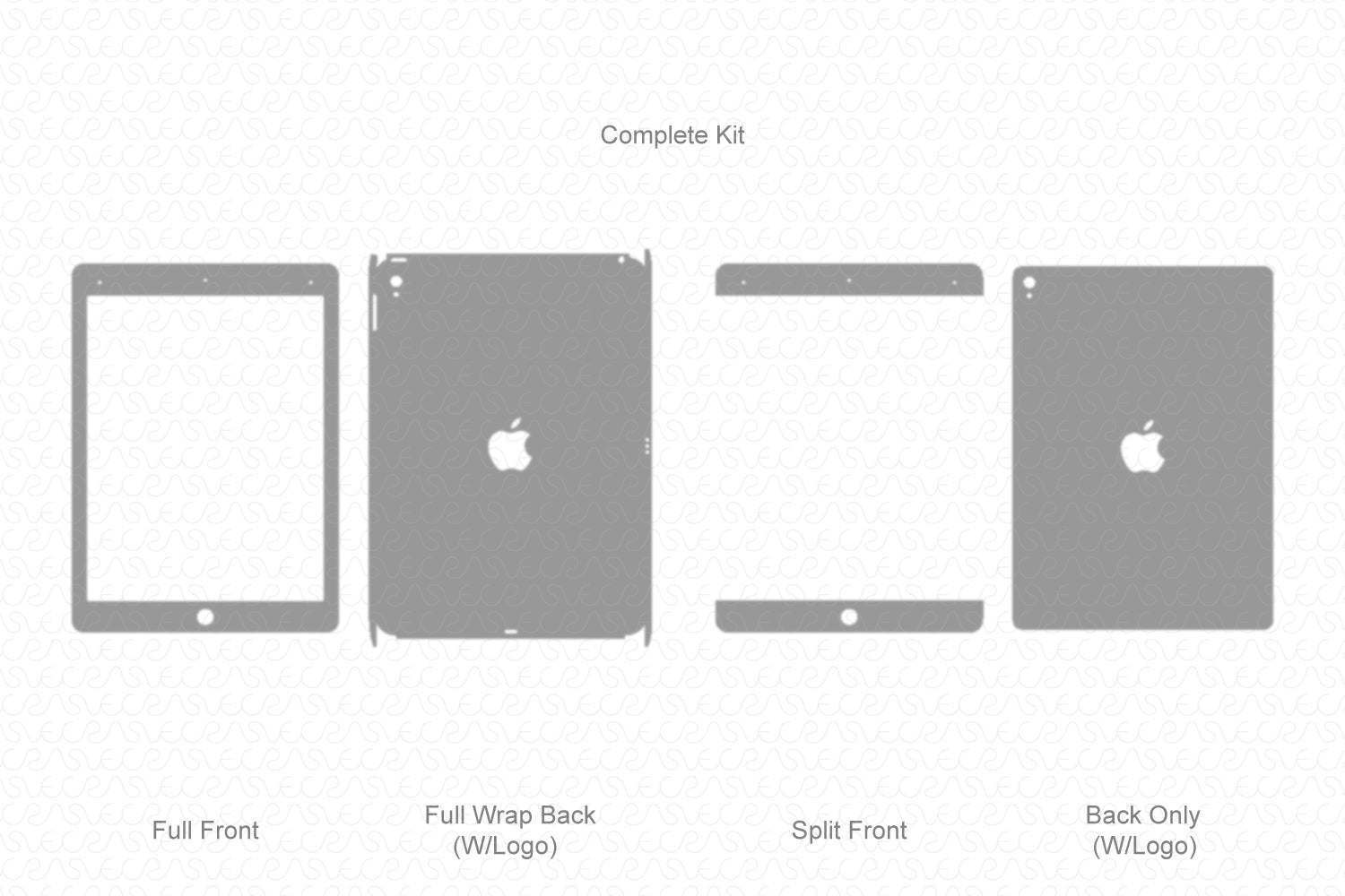"iPad Pro 9.7"" (2016) Vector Cutline Template"