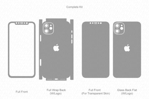 iPhone 11 (2019) Skin Template Vector