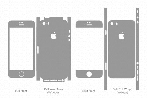 iPhone 5S & SE (2013-2016) Skin Template Vector