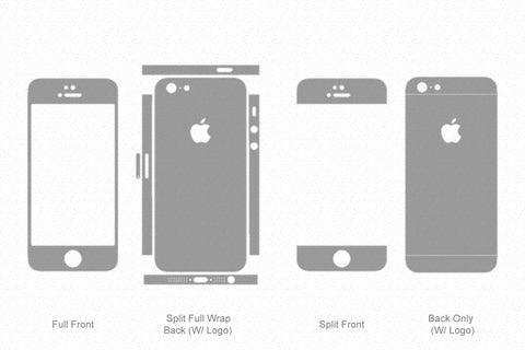 iPhone 5 (2012) Skin Template Vector