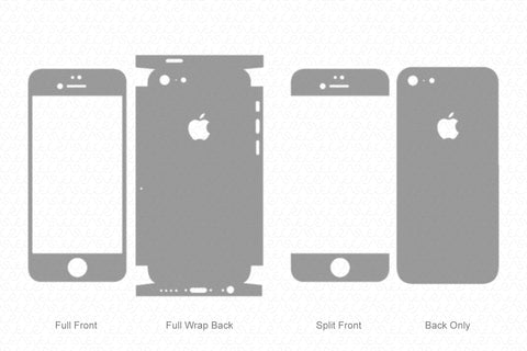 iPhone 5C (2013) Skin Template Vector