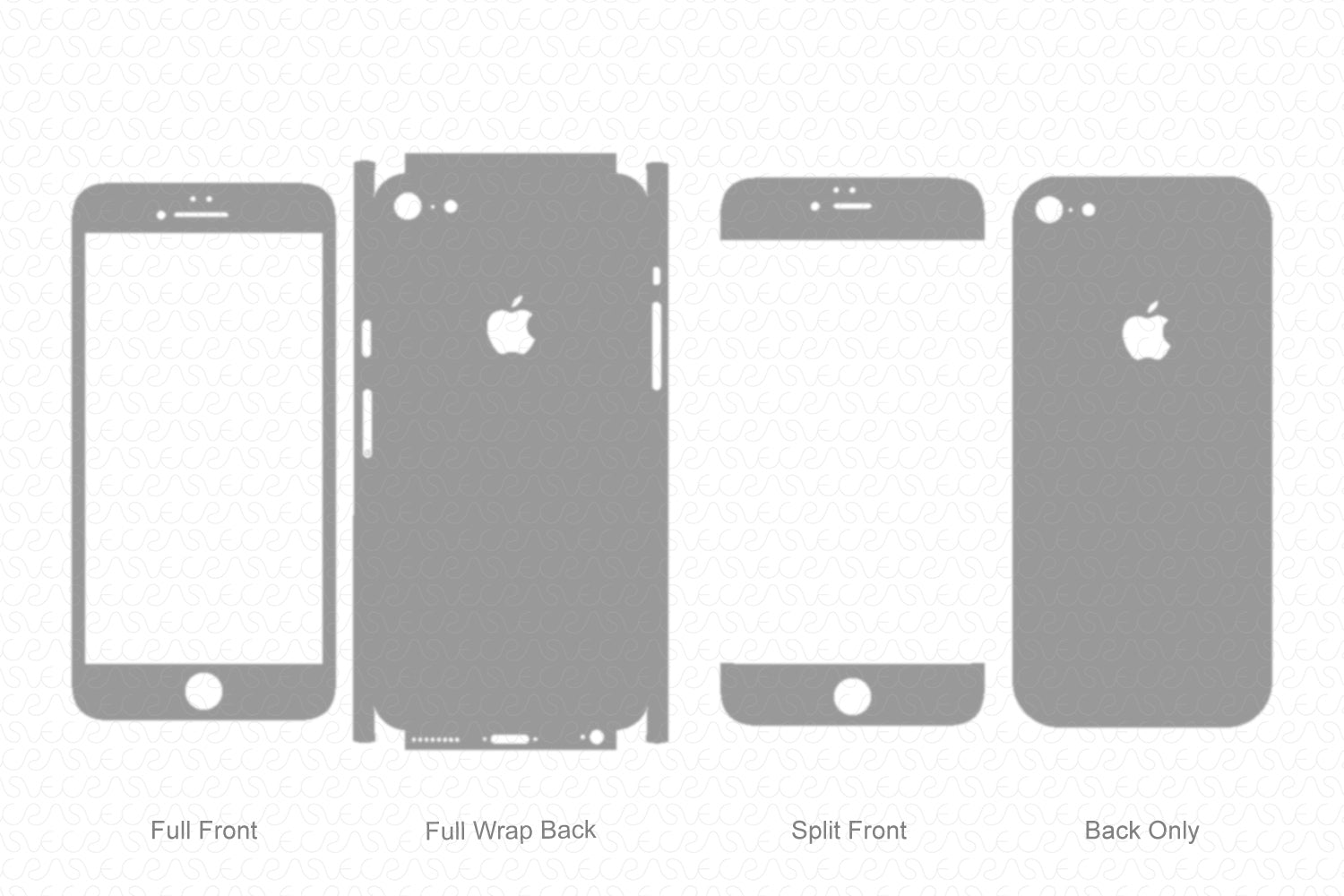 iPhone 6 Plus (2016) Skin Template Vector