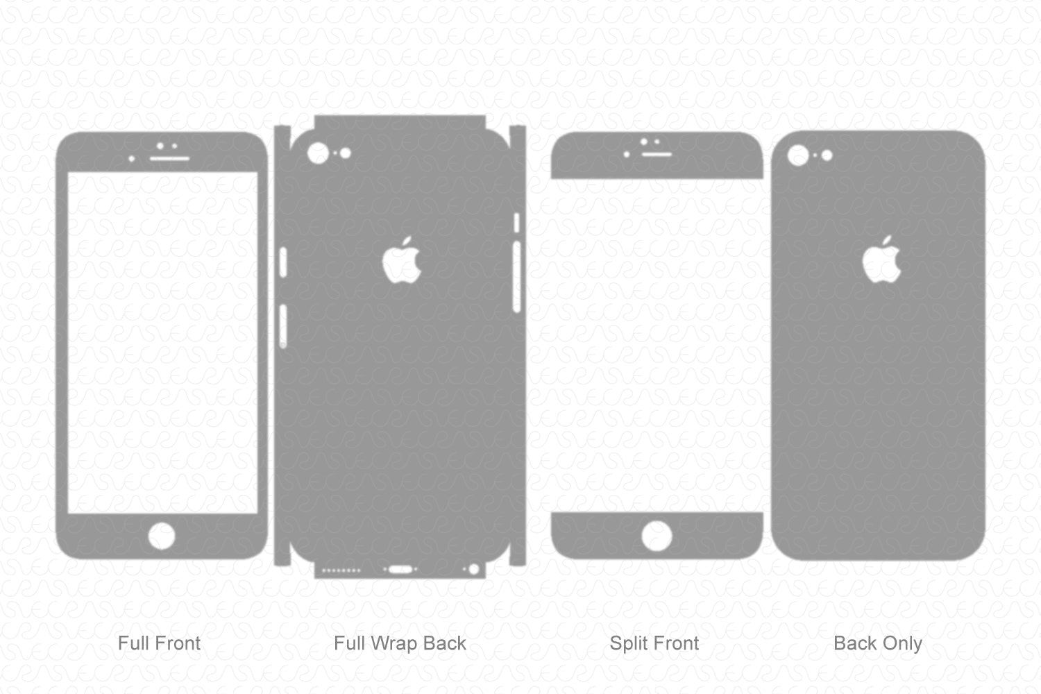 iPhone 6S Plus (2016) Skin Template Vector