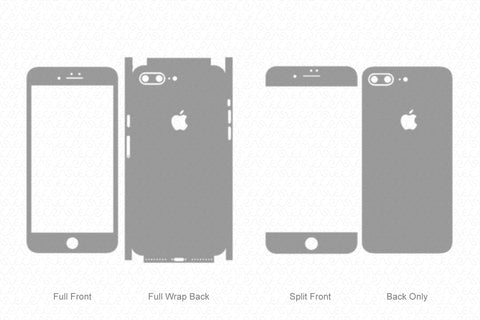 iPhone 7 Plus (2016) Skin Template Vector