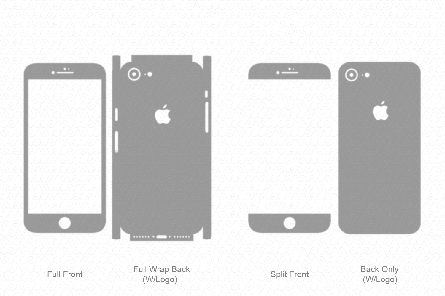 iPhone 7 (2017) Skin Template Vector