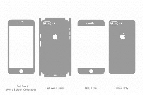 iPhone 8 Plus (2017) Skin Template Vector
