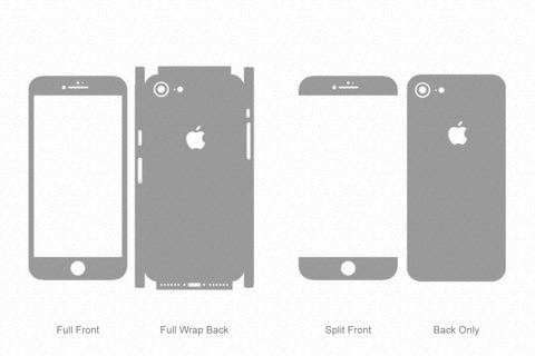 iPhone 8 (2017) Skin Template Vector