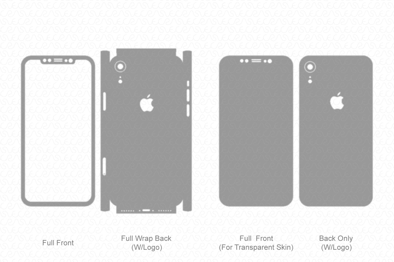 iPhone XR (2018) Skin Template Vector