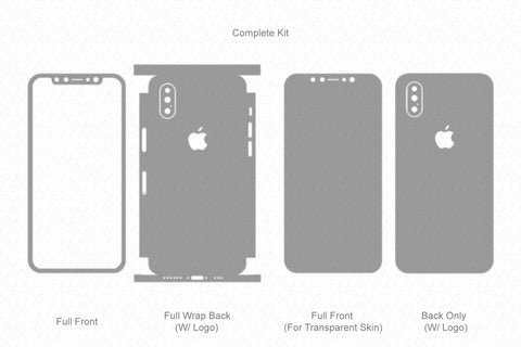iPhone XS Max (2018) Skin Template Vector