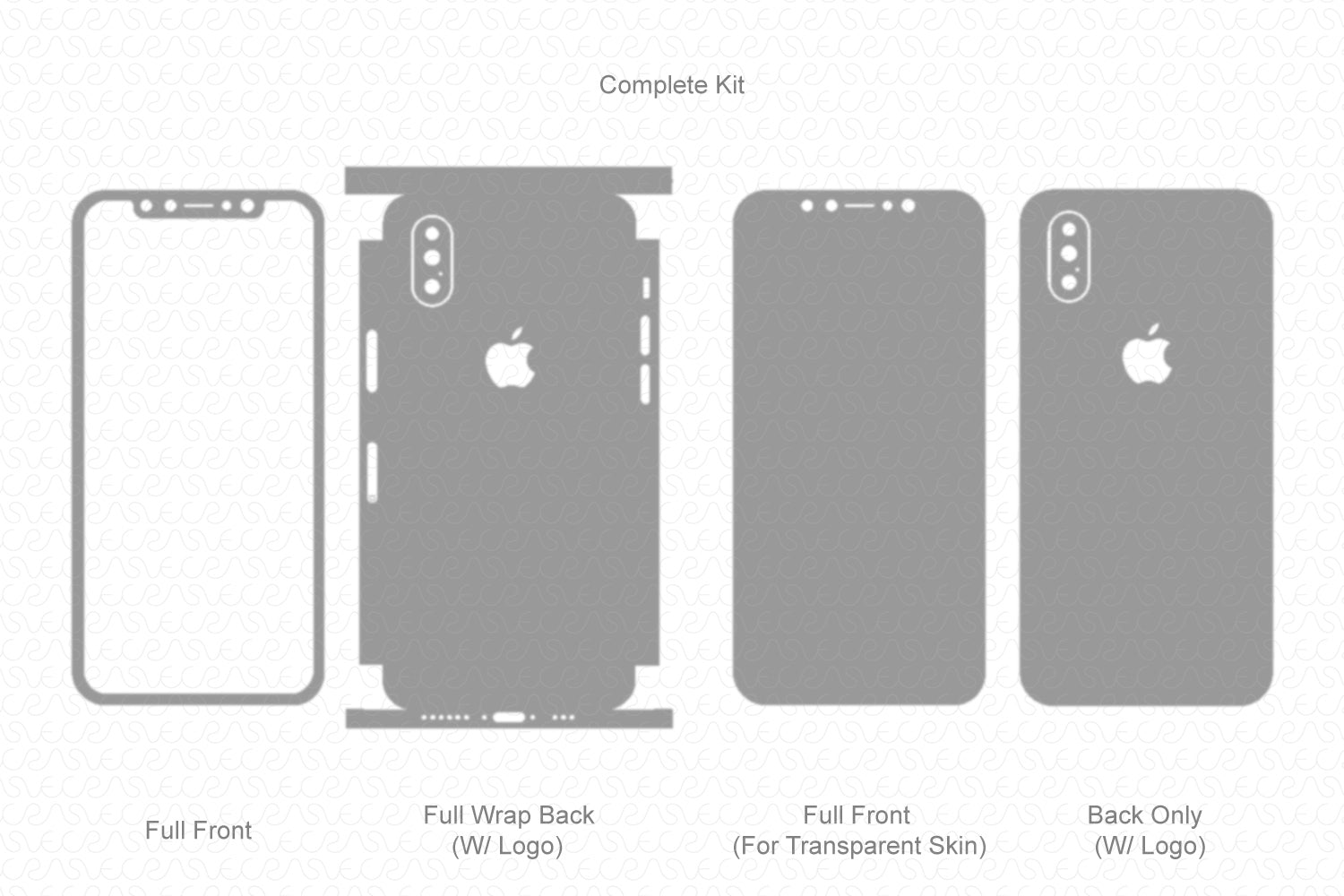 iPhone XS (2018) Skin Template Vector
