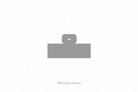 Apple 20W Power Adaptor Skin Template Vector 2020