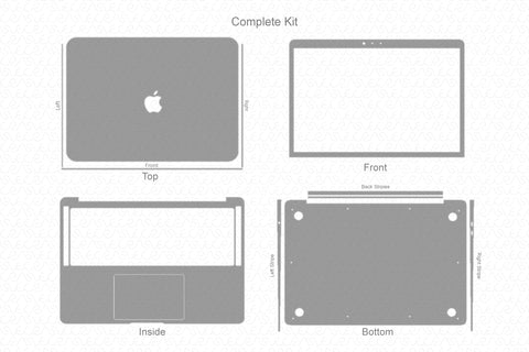 MacBook Air 13-inch 2020 Skin Template Cut File