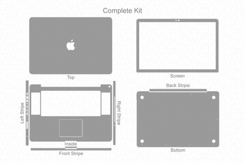 "MacBook Pro 17"" Early 2011 Skin Template Cut File"