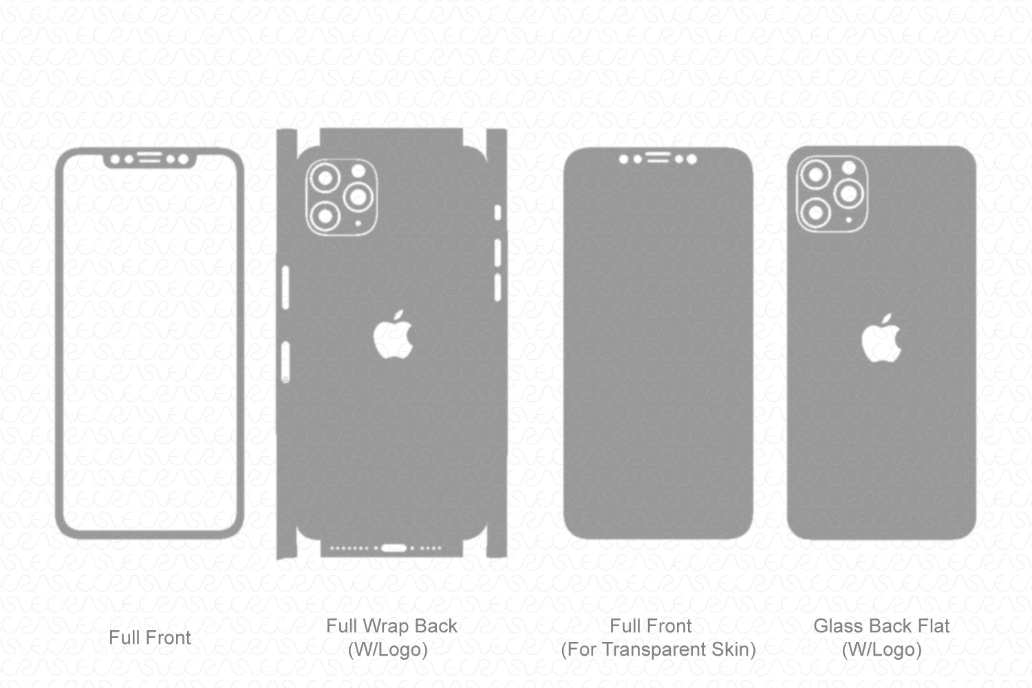 iPhone 11 Pro (2019) Skin Template Vector