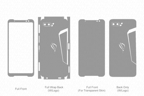 ROG Phone II (2019) Skin Template Vector