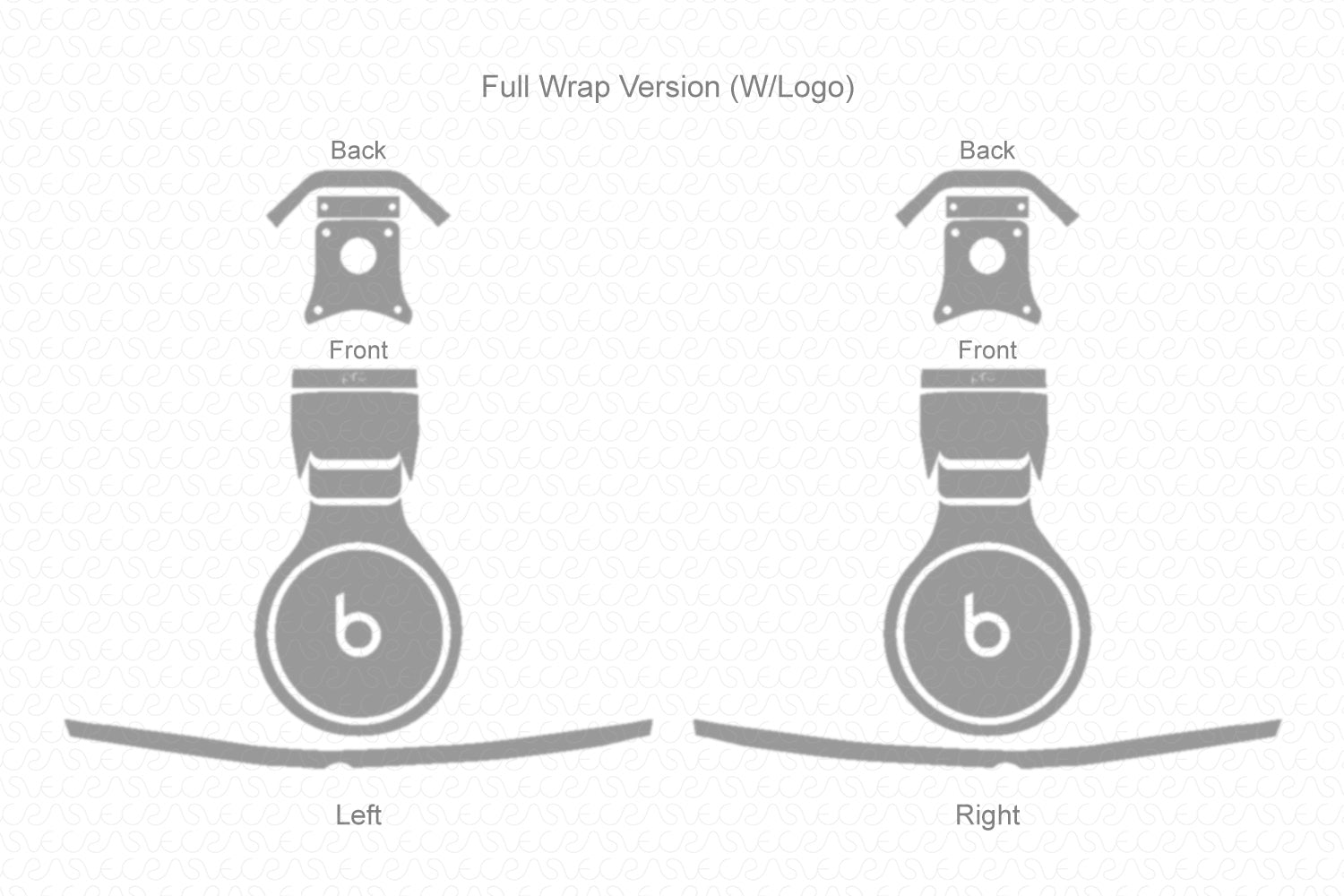 Beats Pro Wired Headphones (2012) Skin Cutting Template